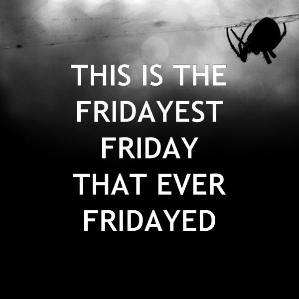 """Scary Friday"" demotivator b/w version"